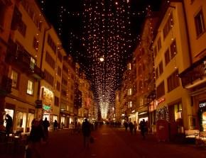 Christmas lights, Rennweg, Zurich