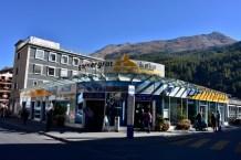 The Gornergrat train station in Zermatt
