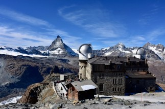 the hotel 3100 Kulmhotel Gornergrat, and the Matterhorn
