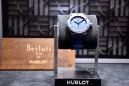 Geneva Watch Fair 2017, Hublot novelties, Classic Fusion Berluti Blue