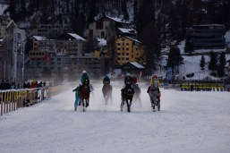 Night Turf 2017, St. Moritz, Prominent-Skikjöring presented by CREDIT SUISSE