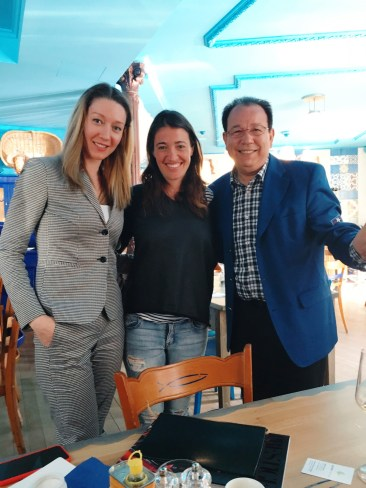 With beautiful Sybille Coccoloni, the owner of the 4 Leoni restaurants, and Antonio Campanile, the owner of INews magazine