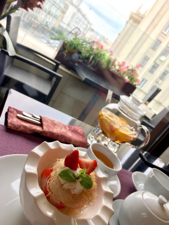 Tea time at Panorama Lounge