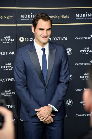 Roger Federer - Swiss professional tennis player, currently ranked world No. 2 in men's singles tennis by the Association of Tennis Professionals, at the ZFF Opening Night, Green Carpet, Gala Premiere of BORG/McENROE