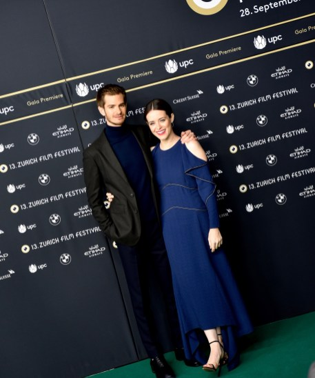 Andrew Garfield and Claire Foy on the Green Carpet before the Gala Premiere of BREATHE