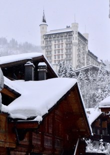Gstaad, view of Gstaad Palace Hotel