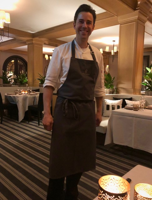 Axel Rudlin, the Executive Chef of Avenue Montage restaurant, Park Gstaad, December 2017