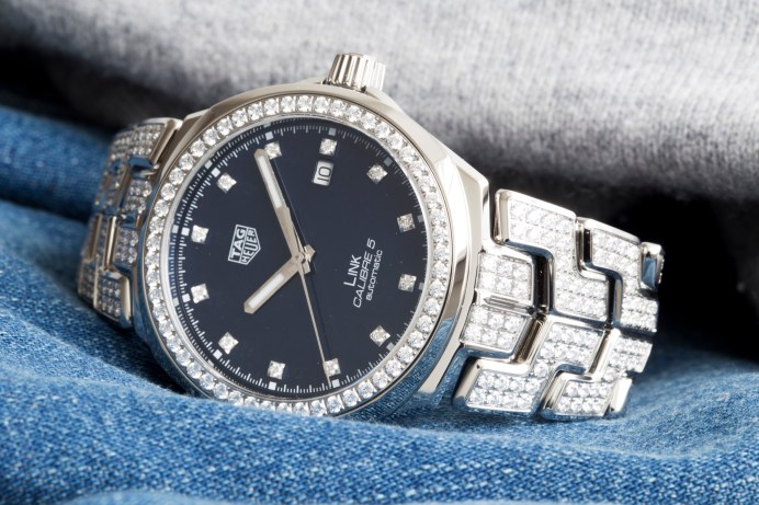 TAG HEUER LINK 41MM SET WITH DIAMONDS