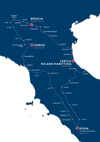 Road map of 1000 Miglia 2018