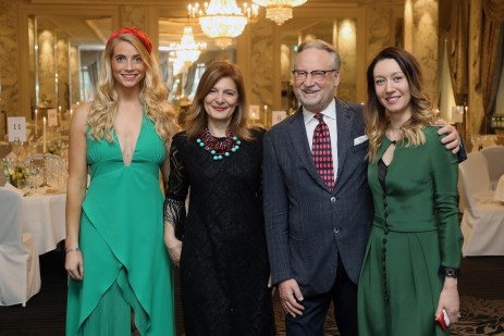 With Dany Stauffacher (CEO & Founder Sapori Ticino) and bloggers during the Gala Dinner of S.Pellegrino Sapori Ticino 2018 at the Hotel Schweizerhof Bern & THE SPA.