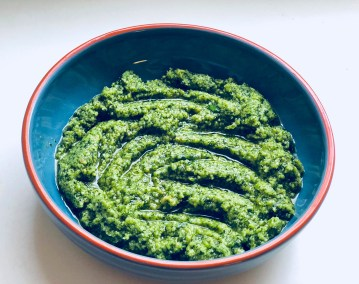 Recipe for the homemade pesto