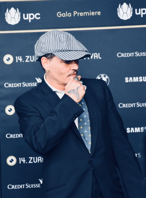 Johnny Depp on the Green Carpet of 14th ZFF before the premiere of RICHARD SAYS GOODBYE