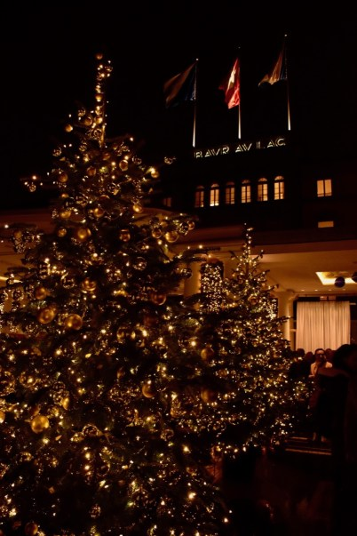 Christmas Tree lighting at the Bar Au Lac Hotel in Zurich