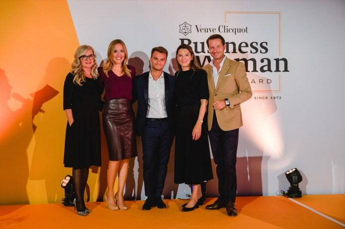 Jury members: Bea Petri, Patrizia Laeri, Cahe Kuczera, Sabina Hanselmann - Diethelm, Siro Barino, during Veuve Clicquot Business Woman Award Ceremony