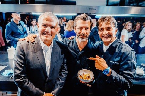 Hublot, The Art Of Fusion, an exclusive live cooking event, led by two 3* Michelin star Chefs, Yannick Alléno and Andreas Caminada.