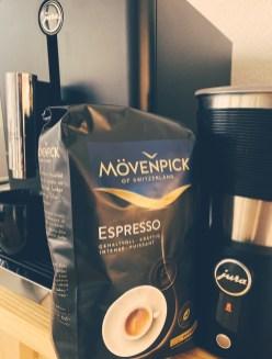 Mövenpick Espresso, Jura coffee machine and Jura automatic milk frother