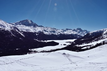 St. Moritz, Walking path from the Signal cable car towards the mountain club El Paradiso