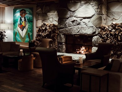 The Alpina Gstaad, a cosy bar-lounge