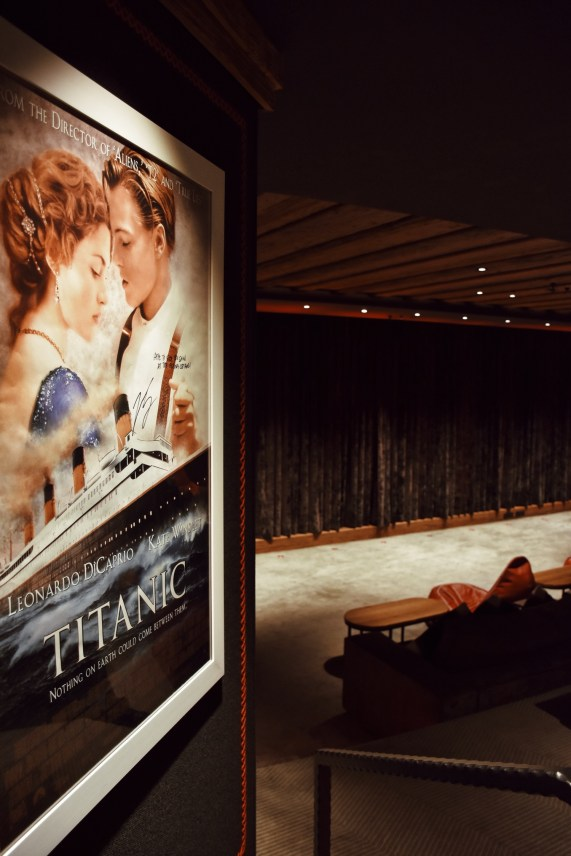 The Alpina Gstaad, a private cinema