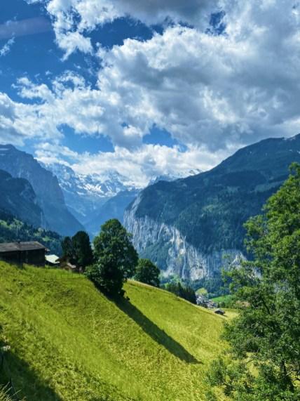 On the way to Jungfraujoch from Lauterbrunnen