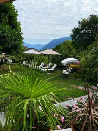 The garden at the Hotel Villa Carona, Switzerland