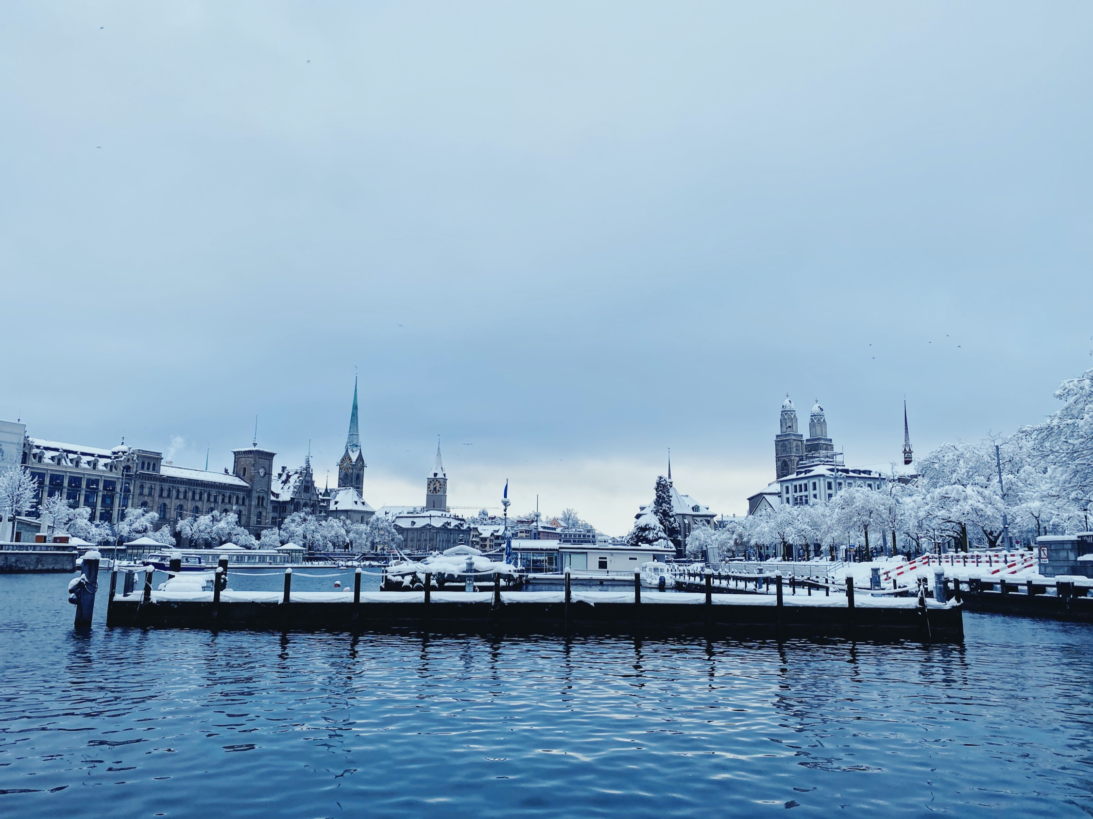 Record snowfall in Zurich, January 2021