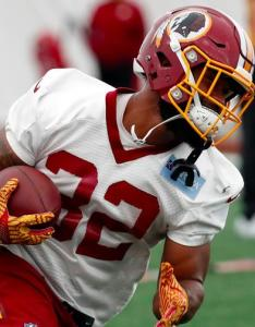Rob kelley has earned all of the first team reps through two preseason games but how long can he hold off rookie samaje perine also fantasy football is running back to target in rh numberfire