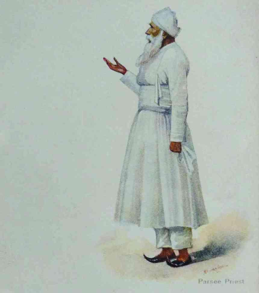 Jama Pichori, the Parsi ceremonial dress.