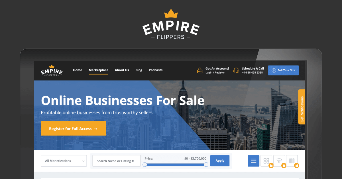 Empire Flippers - Website Brokers and Marketplace | amazon seller tools