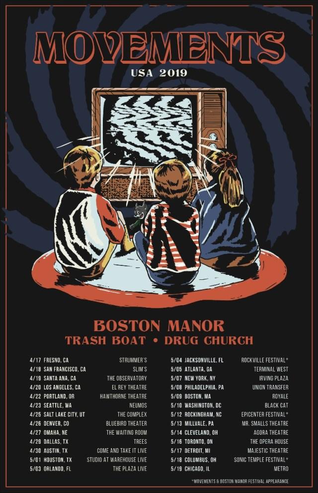 Movements Announce Spring 2019 Headline Tour - Rocked