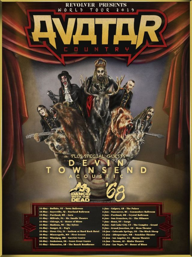 Avatar Announce 2019 North American Tour Dates - Rocked