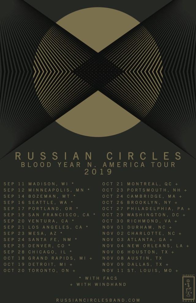 Russian Circle 2019 Tour Dates