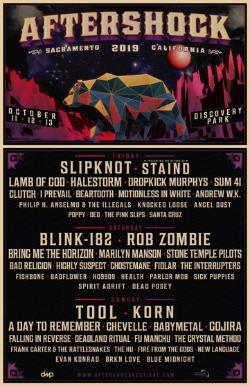 Aftershock 2019 Lineup