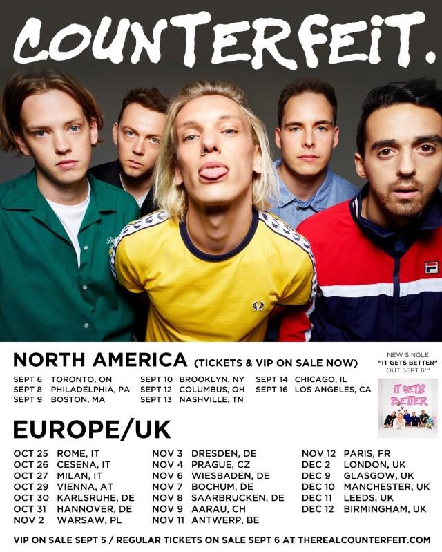 Counterfeit Tour Dates