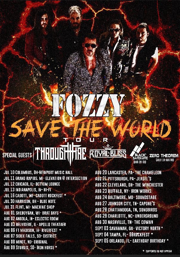 Fozzy Save The World Tour