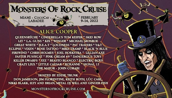 Monsters of Rock Cruise 2022