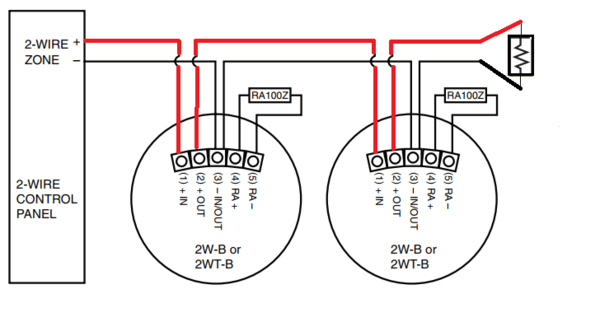 how do i wire a 2wb  alarm grid