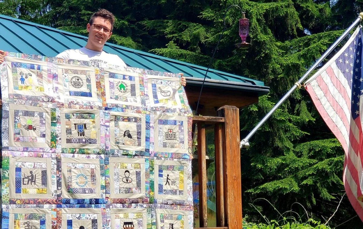 seattle teen taking his covid quilt on