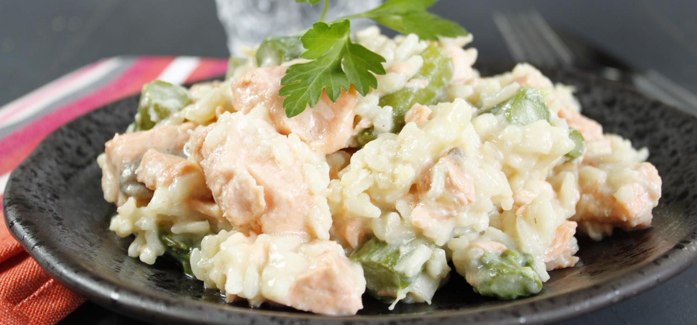 risotto au saumon et asperges cookeo