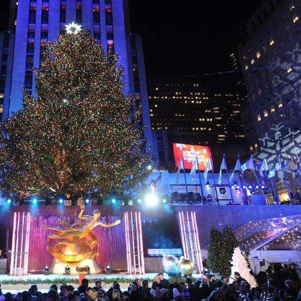 New york rockefeller center weihnachtsbaum 2019 Frohe