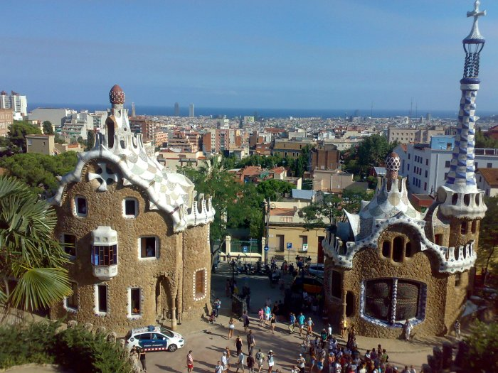 The entrance to Park Guell.