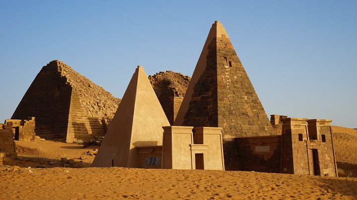 Photo of various Nubian temples at Meroë.