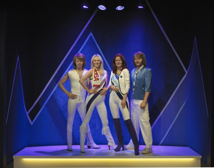 The avatar version of the band ABBA at the ABBA museum in Stockholm
