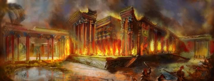 Alexander burns Persepolis