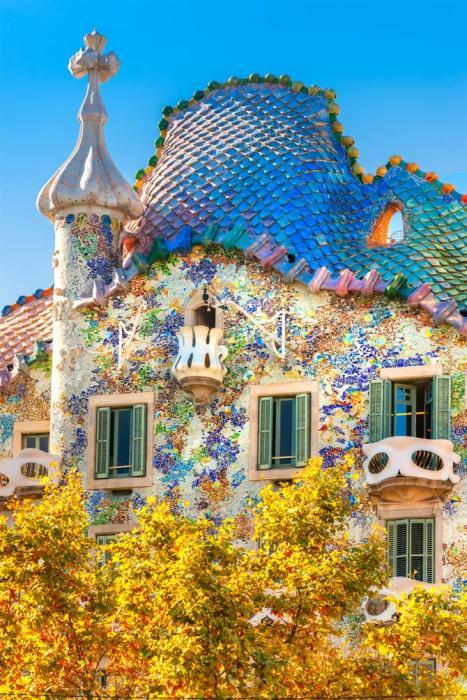The facade of Casa Batllo.