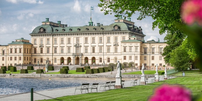 The building and castle is called Drottningholms slott. Located in Stockholm.