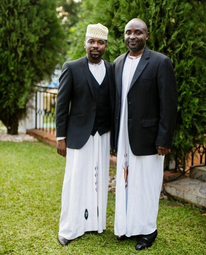 men wearing the East African kanzu