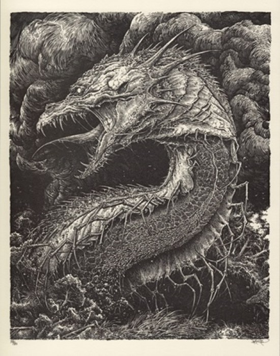 A picture of Leviathan, a sea monster.