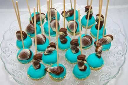 Black and blue sea shells of Guyllian