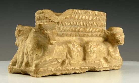 an artefact showing the ritualistic basket